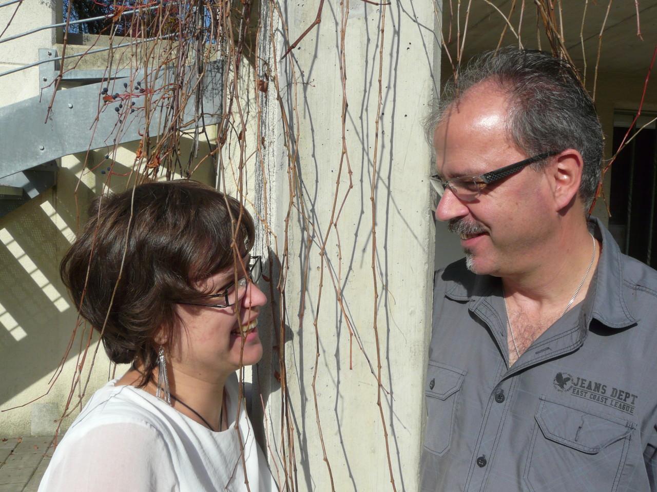 Tochter Lynn mit Vater Ruedi Richner
