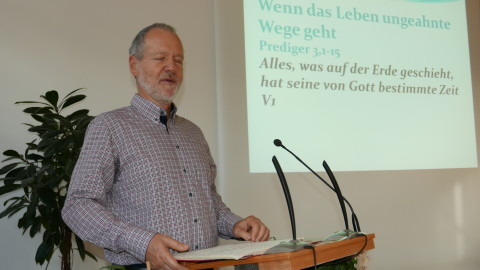 Christoph Marty sprach zum Thema: Wenn das Leben ungeahnte Wege geht.