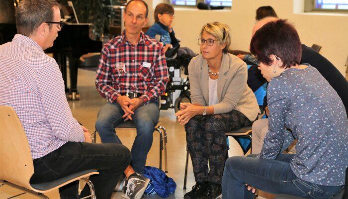 Austausch in Gruppen nach dem Input von Andreas und Astrid