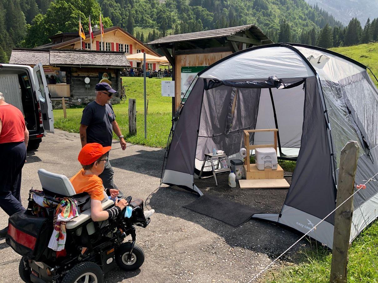 Unser selbstgebautes Behinderten-WC auf der Schwarzwaldalp
